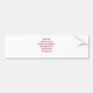knife bumper sticker