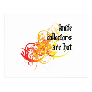 Knife Collectors Are Hot Postcard