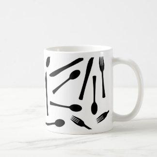 Knife Fork And Spoon Background Coffee Mug