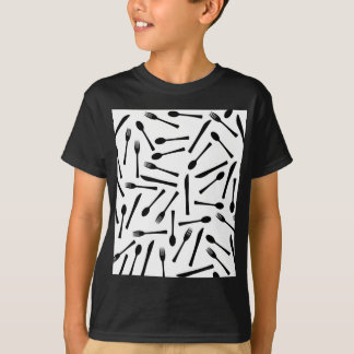 Knife Fork And Spoon Background T-Shirt