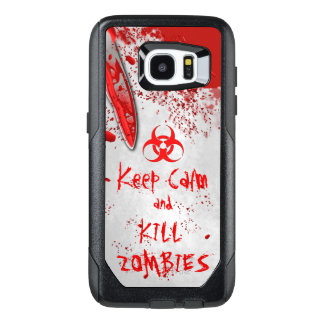 Knife Keep Calm And Kill Zombies Written in Blood OtterBox Samsung Galaxy S7 Edge Case