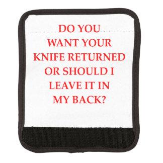 knife luggage handle wrap