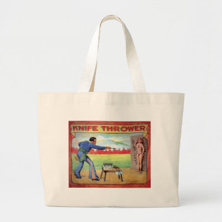 Knife Thrower Large Tote Bag