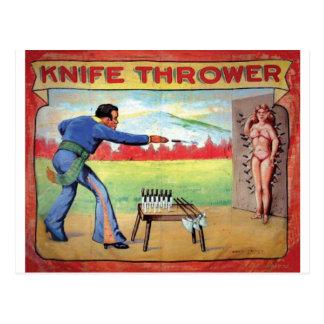 Knife Thrower Postcard