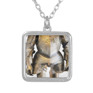 Knight #2 silver plated necklace