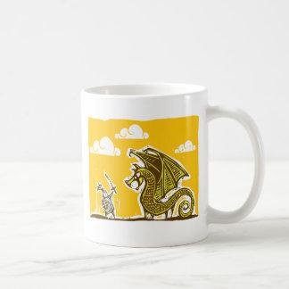 Knight and Dragon Coffee Mug