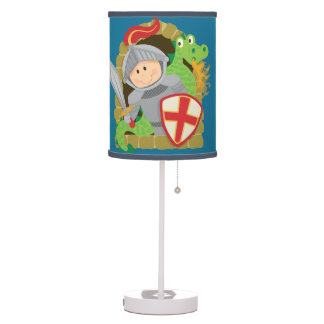 Knight and Dragon Table Lamp
