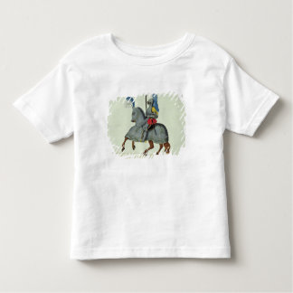 Knight and horse in armour, plate from 'A History Tshirt