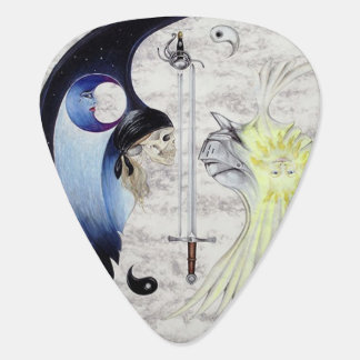 Knight and Pirate Yin and Yang Guitar Pick