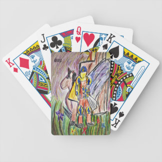 knight art three bicycle playing cards