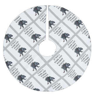 KNIGHT BRUSHED POLYESTER TREE SKIRT
