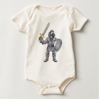 Knight Cartoon Mascot Character Baby Bodysuit