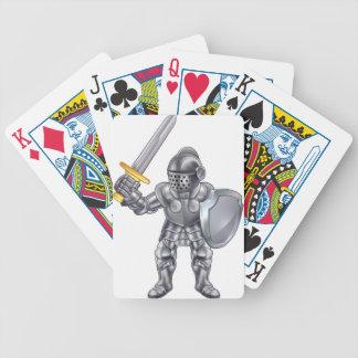 Knight Cartoon Mascot Character Bicycle Playing Cards