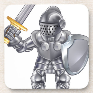 Knight Cartoon Mascot Character Coaster