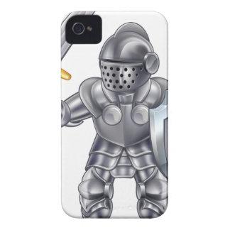 Knight Cartoon Mascot Character iPhone 4 Cases