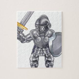 Knight Cartoon Mascot Character Jigsaw Puzzle
