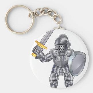 Knight Cartoon Mascot Character Keychain