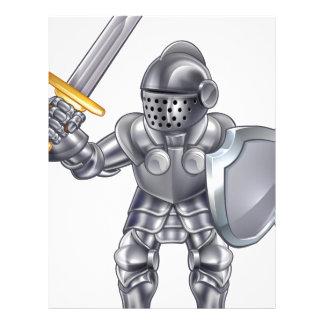 Knight Cartoon Mascot Character Letterhead