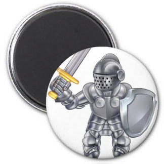 Knight Cartoon Mascot Character Magnet