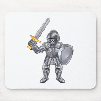 Knight Cartoon Mascot Character Mouse Pad