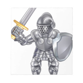 Knight Cartoon Mascot Character Notepad