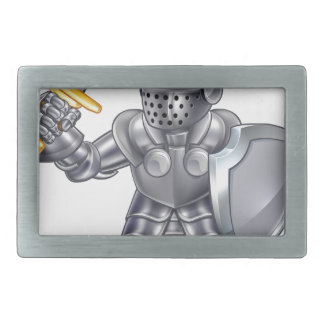 Knight Cartoon Mascot Character Rectangular Belt Buckles