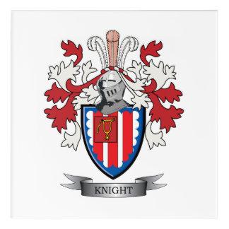 Knight Coat of Arms Acrylic Wall Art