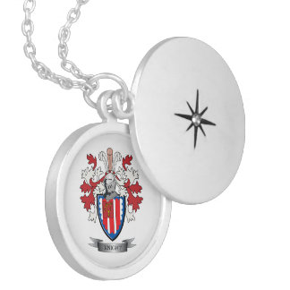 Knight Coat of Arms Silver Plated Necklace