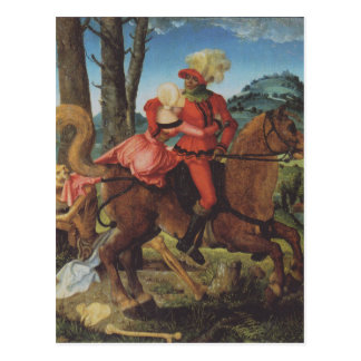 Knight, Death and girl by Hans Baldung Postcard