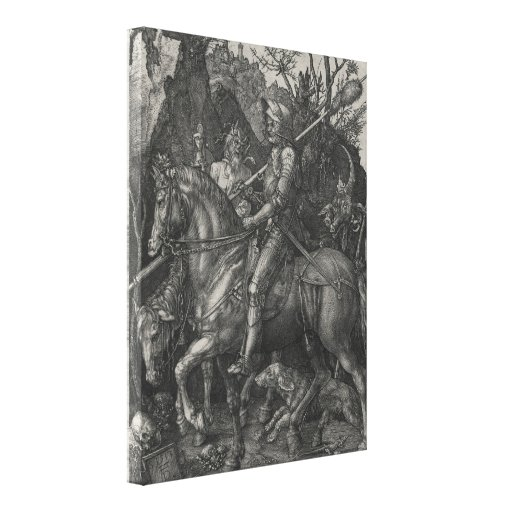 Knight, Death and the Devil by Albrecht Durer Stretched Canvas Prints