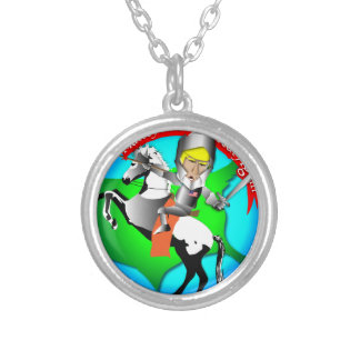 Knight Donald Trump Silver Plated Necklace