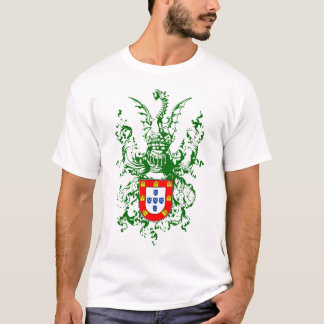 Knight, dragon and Portuguese coat of arms T-Shirt