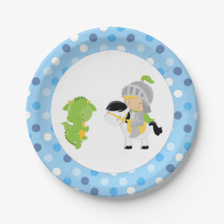 Knight Dragon Paper Plates