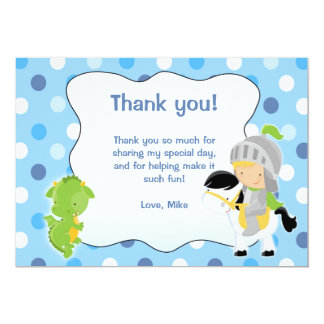 Knight Dragon Thank you Card