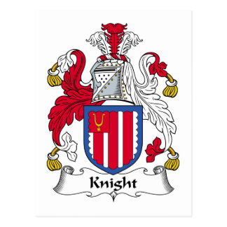 Knight Family Crest Postcard