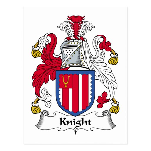 Knight Family Crest Post Cards