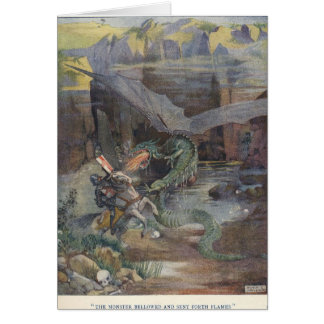 Knight Fighting a Dragon, Card