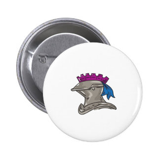 Knight Helmet Drawing 2 Inch Round Button