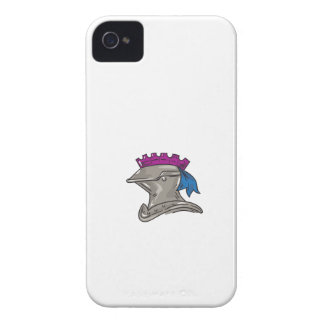Knight Helmet Drawing iPhone 4 Cases