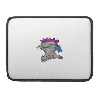 Knight Helmet Drawing Sleeve For MacBook Pro
