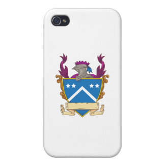 Knight Helmet Star Chevron Drawing iPhone 4/4S Cover