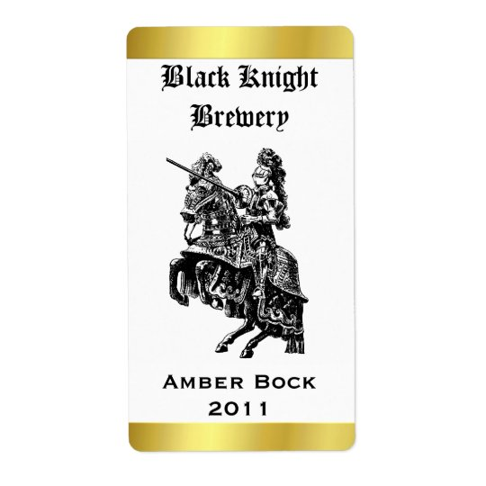 Knight Home Made Beer Label