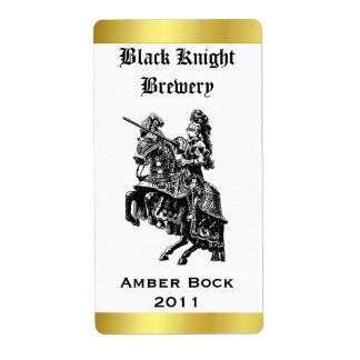 Knight Home Made Beer Label Shipping Label