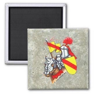 Knight Horse Faux Stone Magnet