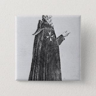 Knight Hospitaller in the original habit 2 Inch Square Button