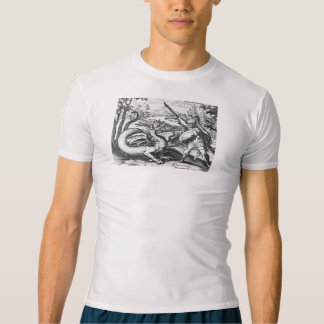 Knight in Armor Slaying the Dragon T-shirt