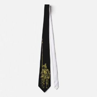 Knight in Armour Gold on Black Tie