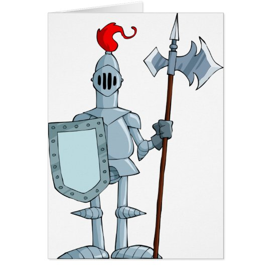Knight In Armour Note Cards