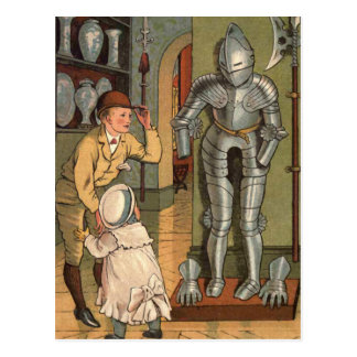 Knight in Armour Vintage Illustration Postcard