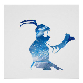 Knight in blue poster